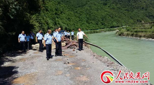 贵州江口多部门联合开展灾后道路安全隐患大排查