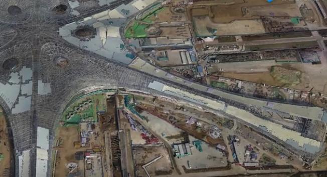 北京新机场三维实景飞行动画