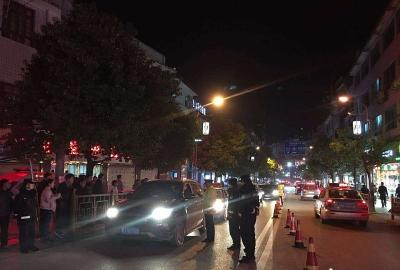 贵州务川交警开展春运酒驾专项整治行动