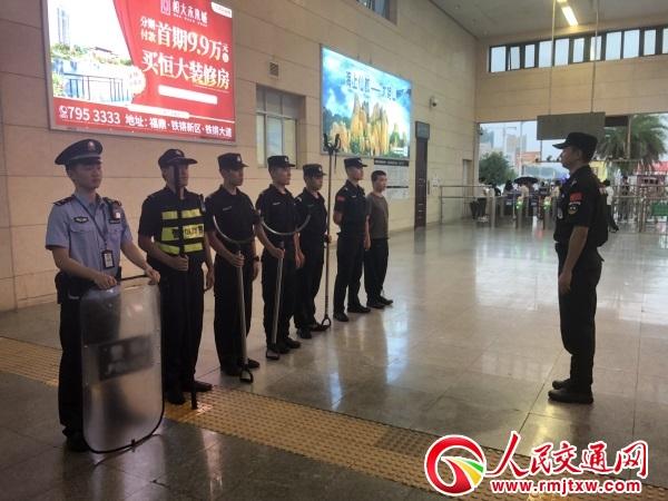 福建福州铁路公安处福鼎车站派出所组织开展路地联勤应急处置演练