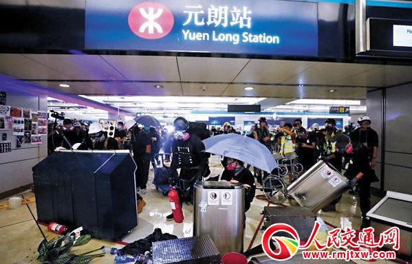 港铁:20车站设施遭示威者毁坏 将支持警方执法