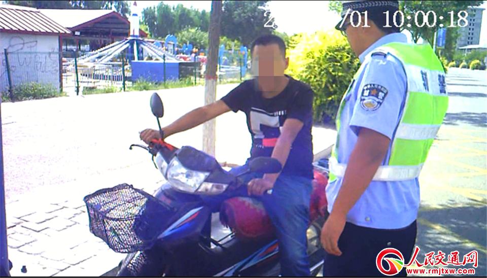 忻州繁峙县公安局交警大队查获一起无证+无牌+酒后驾驶 重点违法行为