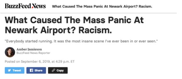 纽约机场陷入恐慌大混乱 起因会让中国人很不舒服