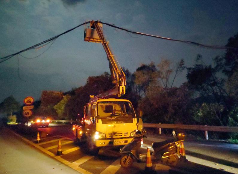 甬台温高速:助力地方光缆抢修  全力保障安全畅通