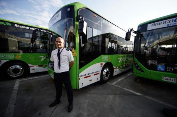 中国产电动公交车在哥伦比亚西部城市投运