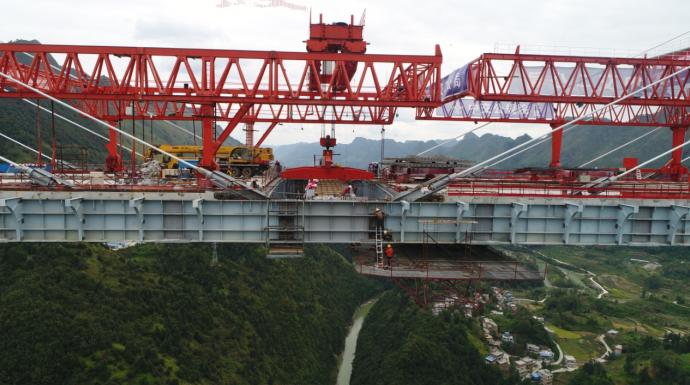 贵州平塘特大桥合龙
