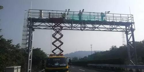 甬金高速绍兴段提前做好ETC门架设备联网调试准备
