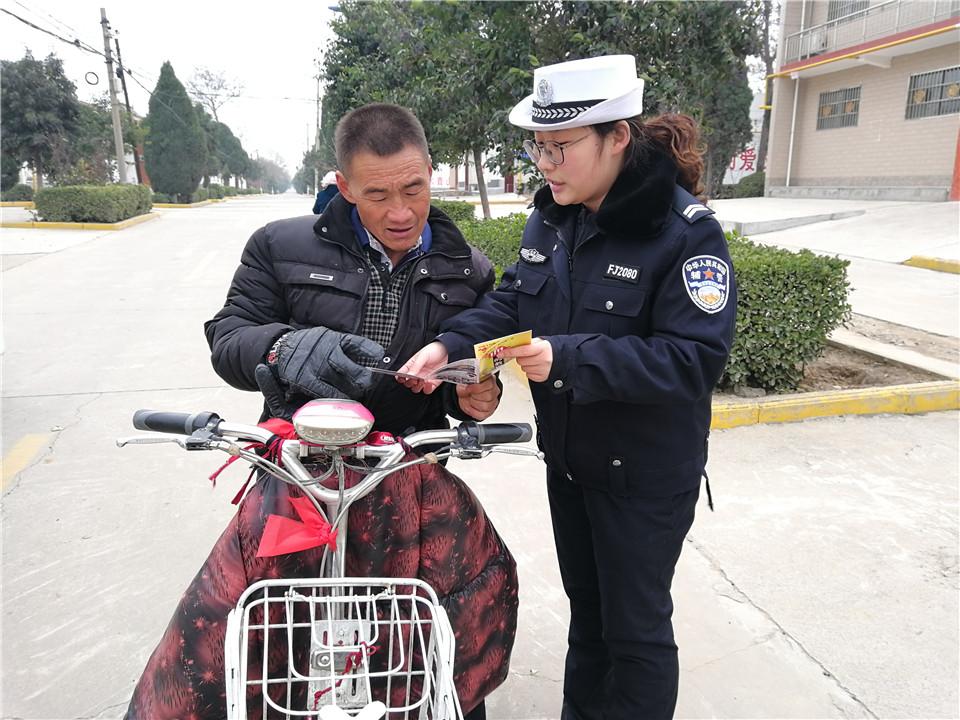 运城永济交警加强村民冬季交通安全教育