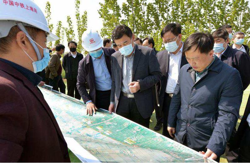 山东省交通运输厅领导到中铁上海局 郑济铁路(山东段)工程项目部调研工作