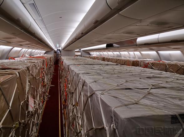海航首架A330改装载货 飞抵伦敦助力抗疫