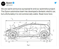 戴森吐槽造电动车:收支平衡一辆车要卖1.8亿美元