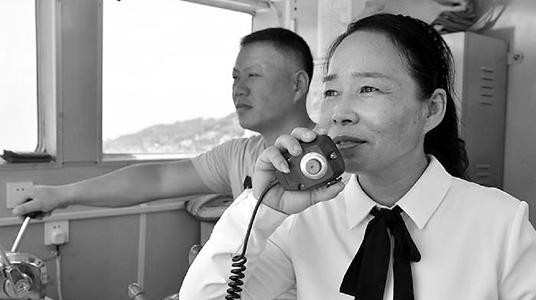 浙江女船长坚守摆渡32年 其姓名被冠以船名