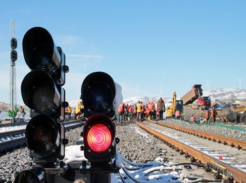集通铁路首个车站电气化扩能改造工程开通