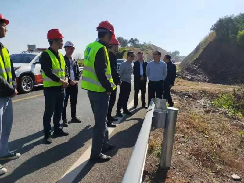 赣州市公路局局长谢文才调研瑞兴于快速交通走廊项目