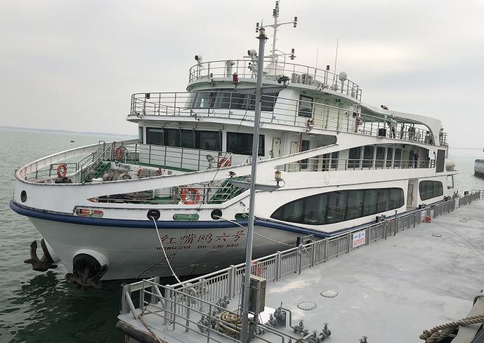 广东湛江港湾最大游船元旦首航