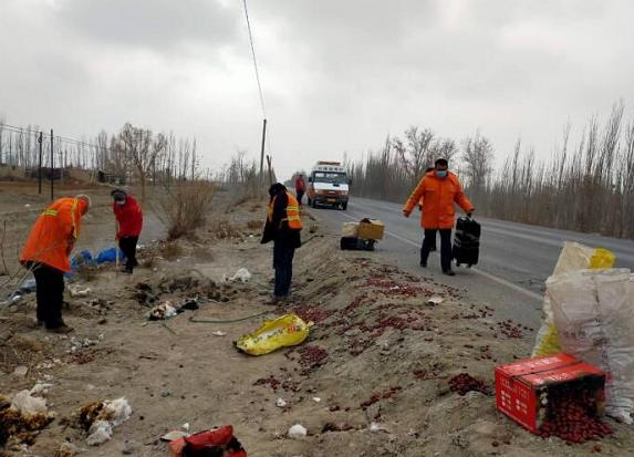 喀什公路管理局巴楚分局紧急施救暖人心