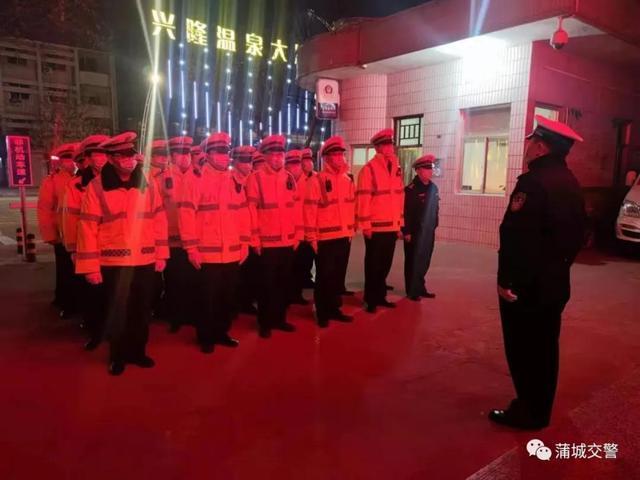 蒲城交警开展节前道路交通大整治