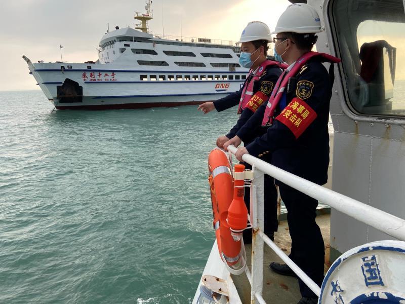 湛江海事春节期间保障琼州海峡24万旅客安全出行