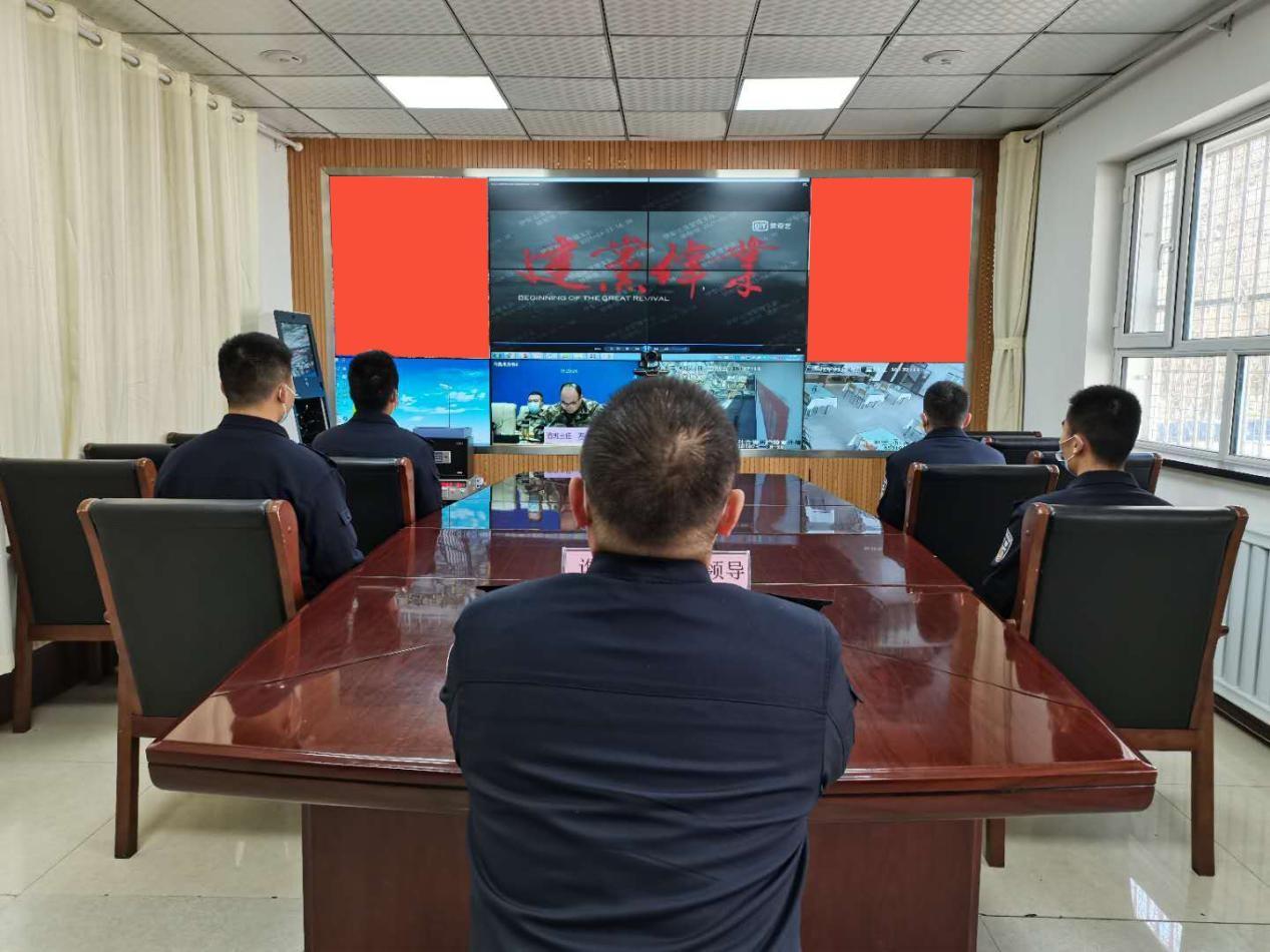 吐古青布拉克边境派出所观看 影片深化党史教育